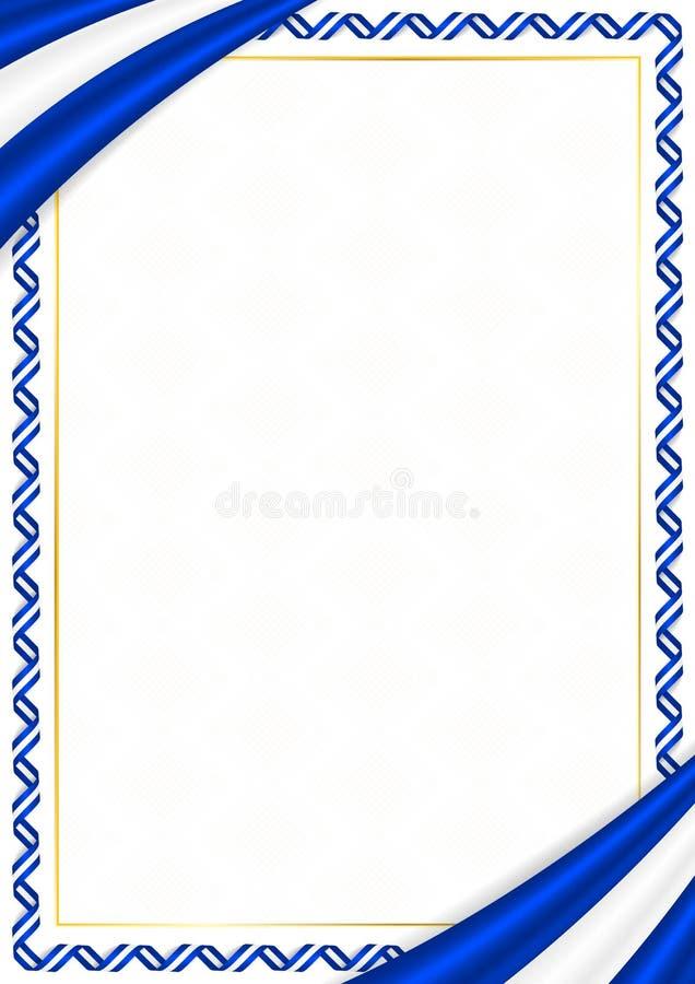 Granica robi? z Izrael krajowymi kolorami ilustracji