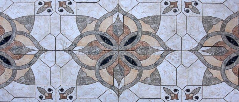 Granica z ceramicznymi płytkami obrazy stock