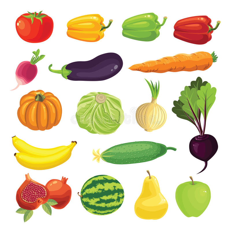 Granica z dojrzałym warzywem, ilustracji