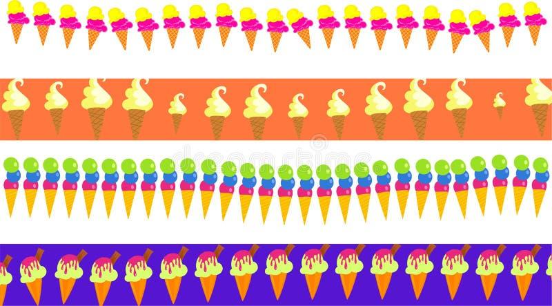 granice kremy lodu ilustracji