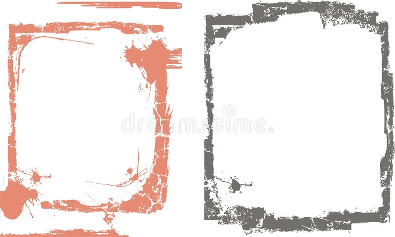 granice obramiają serii ilustracja wektor