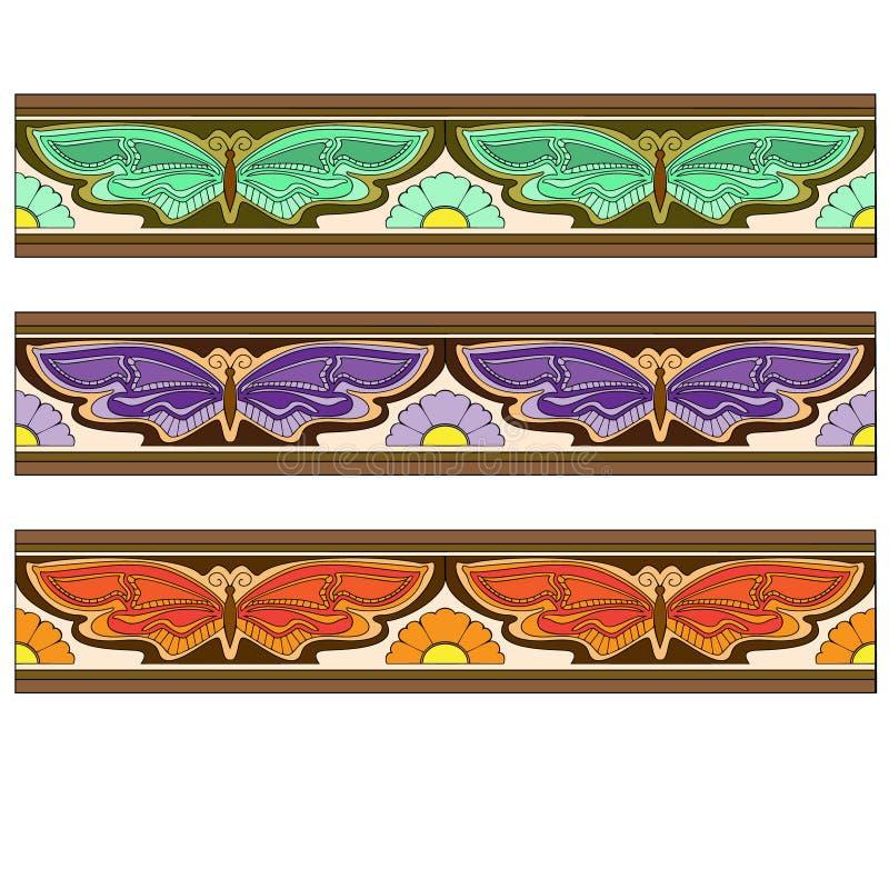 Granicy z butterflys ilustracja wektor