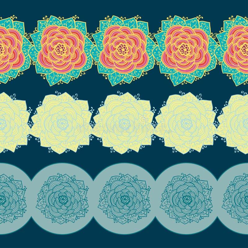 Granicy Z Kwiatami również zwrócić corel ilustracji wektora ilustracji
