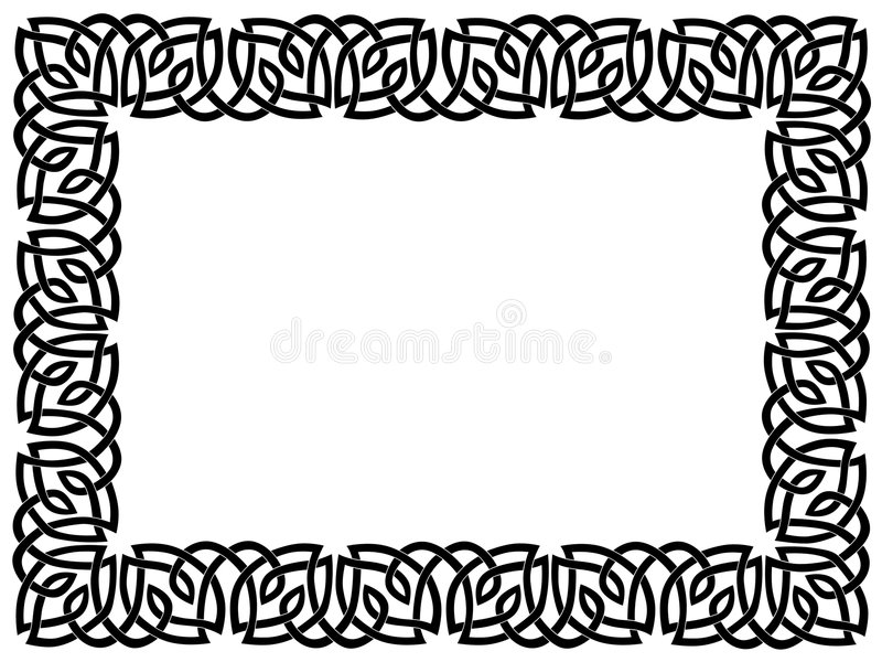 graniczny ornament celta czarny ilustracja wektor