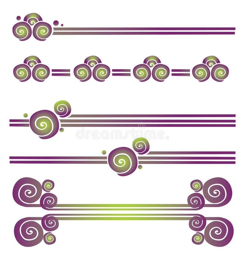 graniczy dekoracyjnego ilustracji