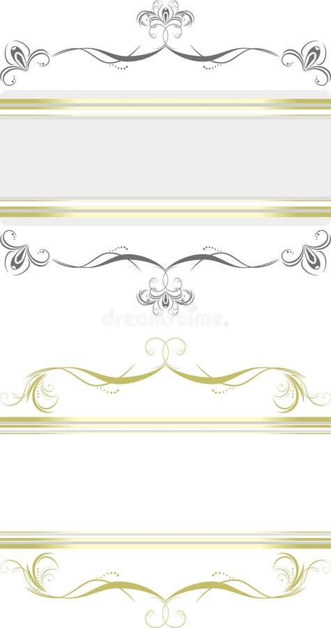 graniczy dekoracyjni kwieciści dwa ilustracja wektor