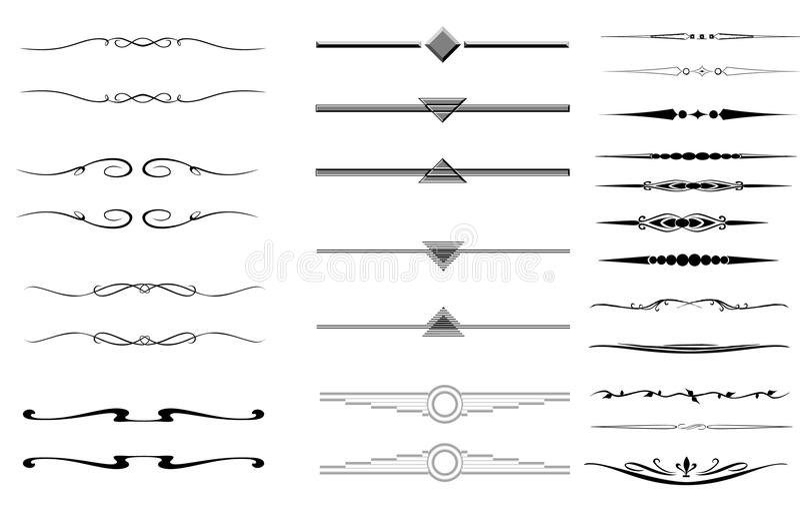 graniczy dekoracyjnych dividers royalty ilustracja