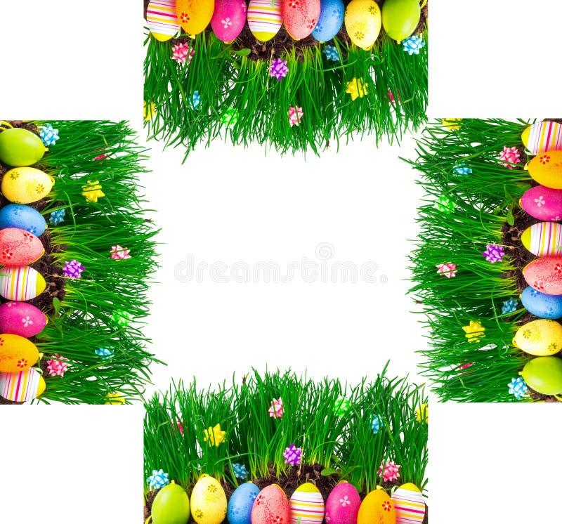 Graniczy, kartka z pozdrowieniami jaskrawy kolorowy malujący Easter jajek dowcip zdjęcia royalty free