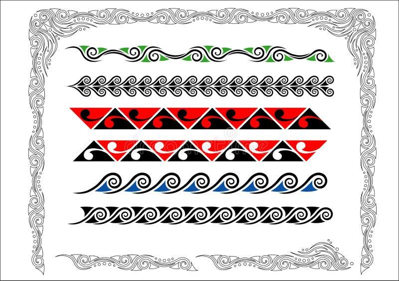 graniczy koru maoryjskiego ilustracja wektor