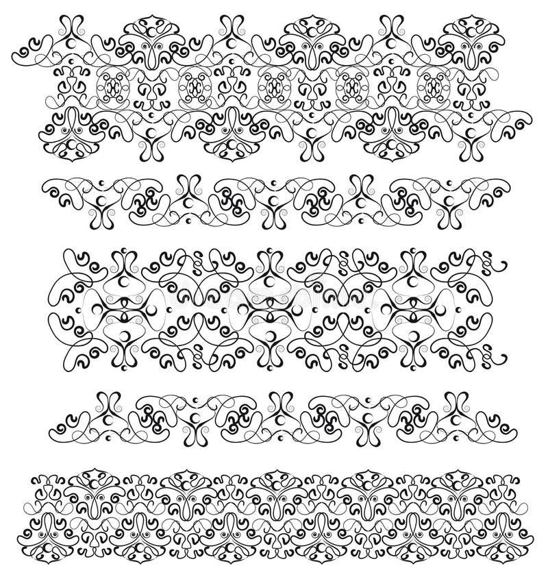 graniczy ornamental kilka ilustracja wektor