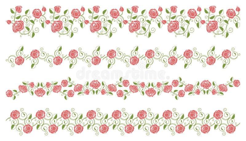 graniczy róże ustawiać ilustracji