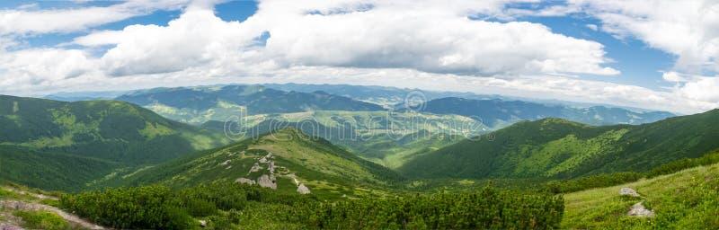 Granie Karpackich gór panorama fotografia royalty free