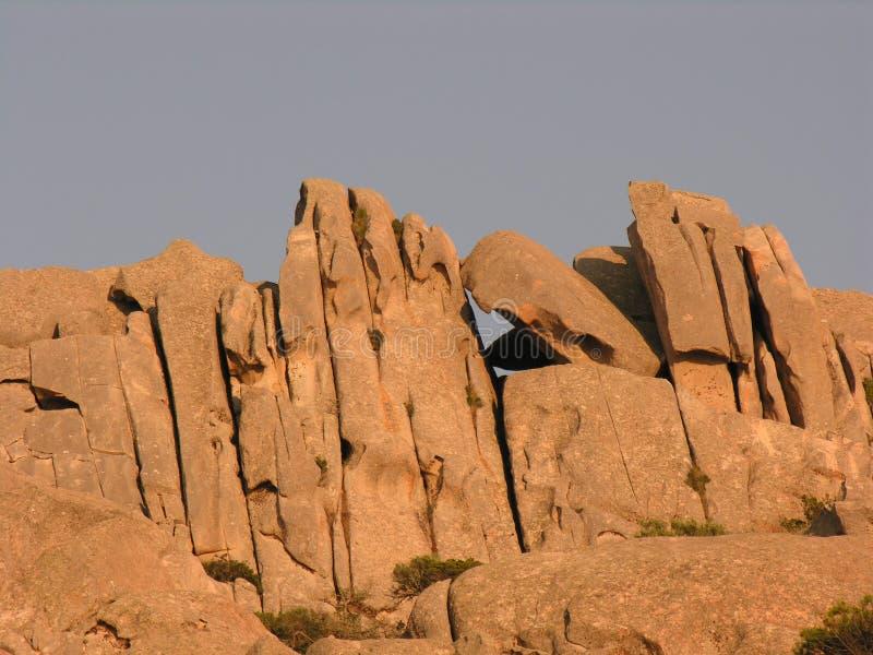 Graniet en zijn vormen B stock foto's
