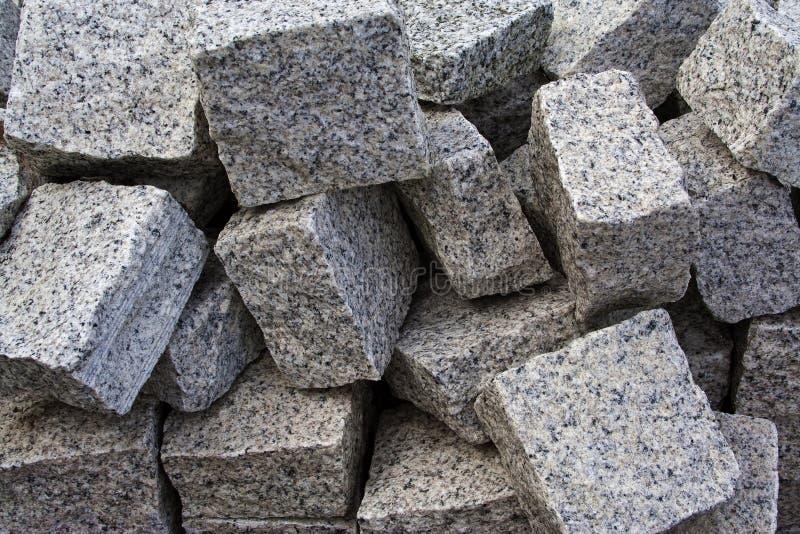 Granietstraatstenen stock afbeelding