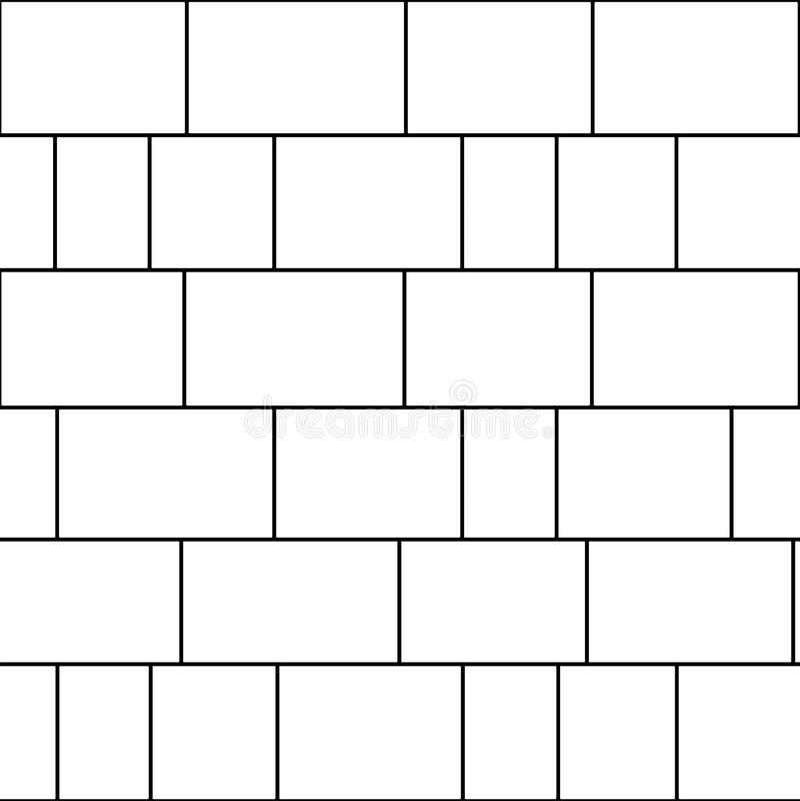 Granit deckt nahtloses strukturiertes Muster mit Ziegeln lizenzfreie abbildung