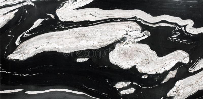 Granit naturel abstrait noir et blanc pour la conception photos stock