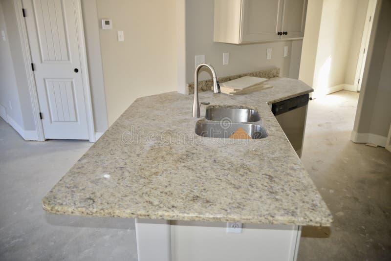 Granit- och marmorCountertops royaltyfria bilder