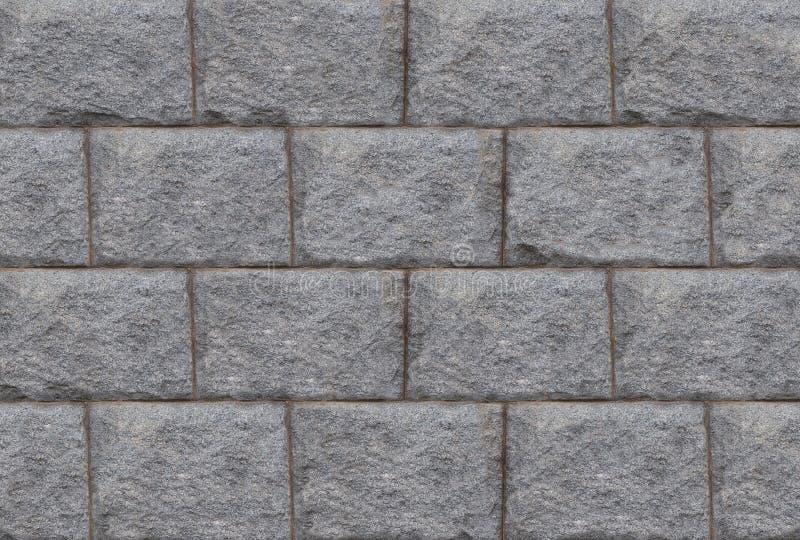Granit rectangulaire de texture de conception de lumière de bloc de mur en pierre de base grise de fond images libres de droits