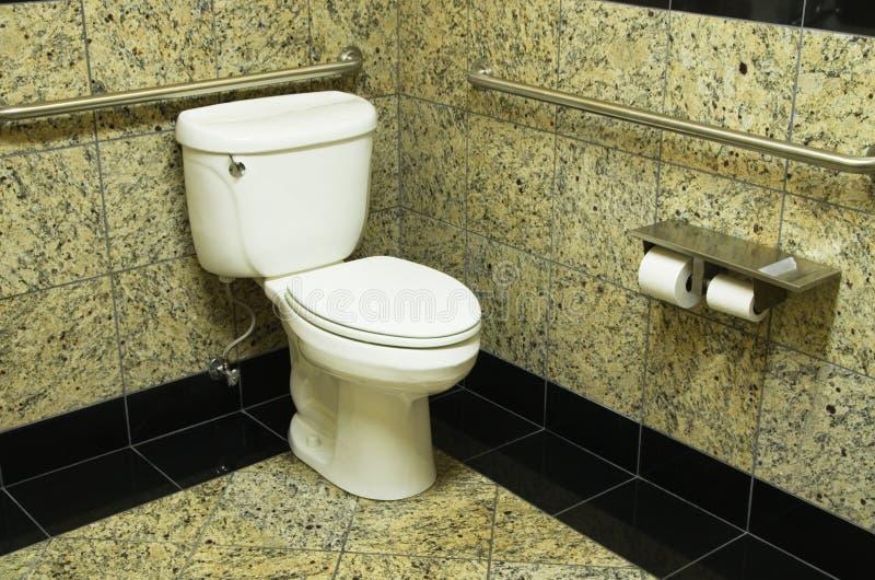 Granite Bathroom Toilet. Fancy bathroom with granite tiles and toilet stock photos