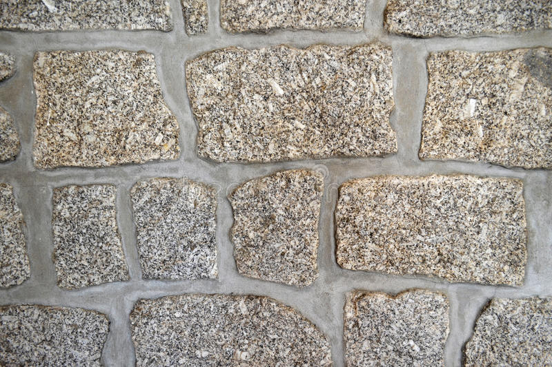Granite Blocks Stone Wall royalty free stock photography