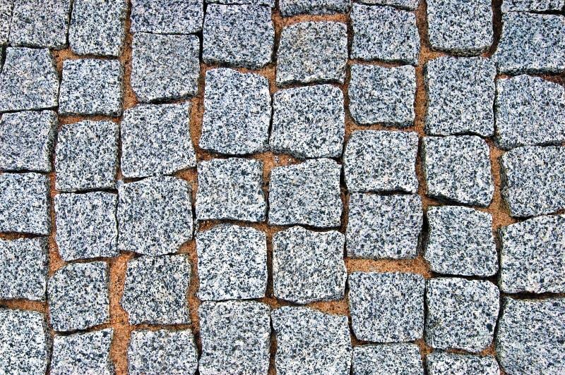 Rough Granite Block : Granite cobblestone pavement texture background large