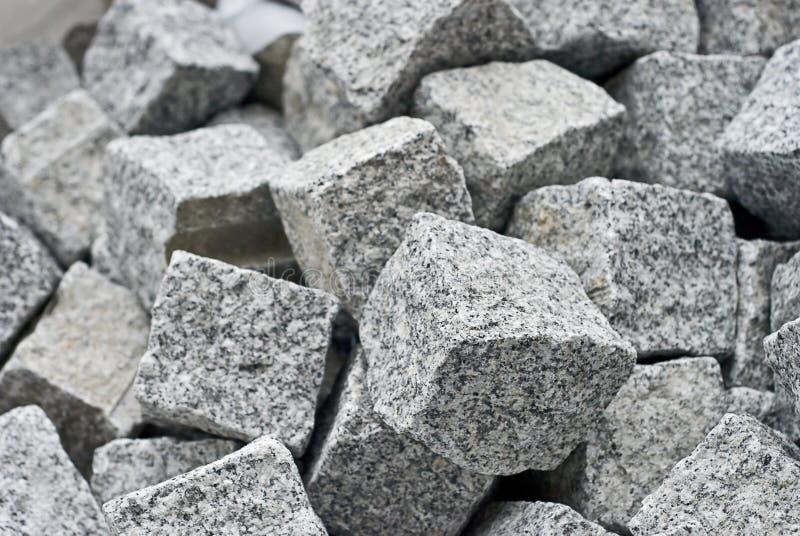 Granite cube blocks stock photos