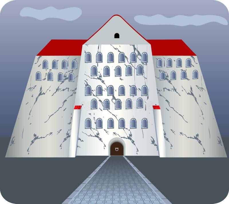 Granite fortress royalty free illustration