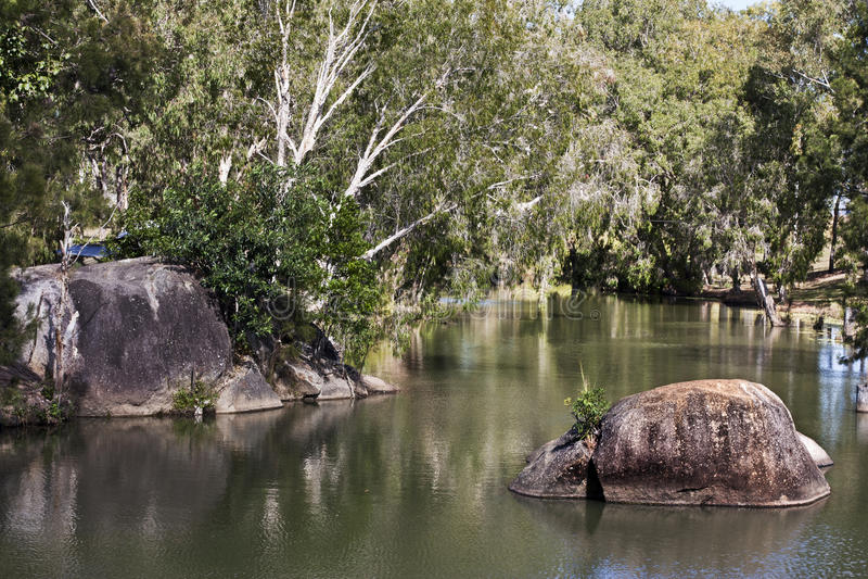 Granite Gorge near Mareeba view of river. Granite Gorge near Mareeba in Australia a view of river stock images