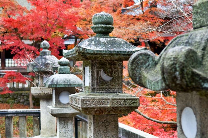 Granite lanterns royalty free stock image