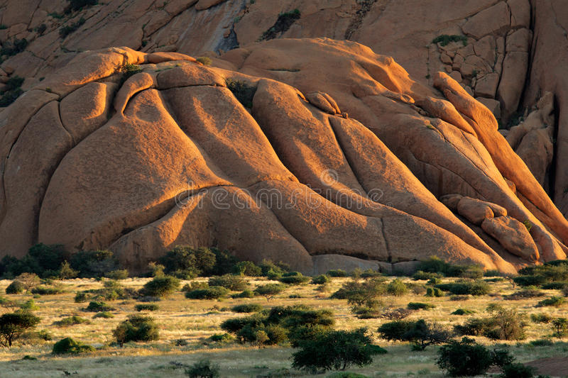 Granite mountain, Spitzkoppe, Namibia royalty free stock image