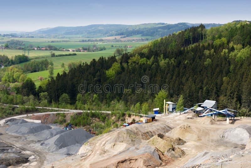 Granite Quarry Mining Royalty Free Stock Images