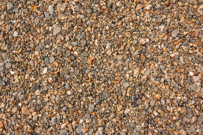 Granite rubble background texture. Granite rubble top view royalty free stock image