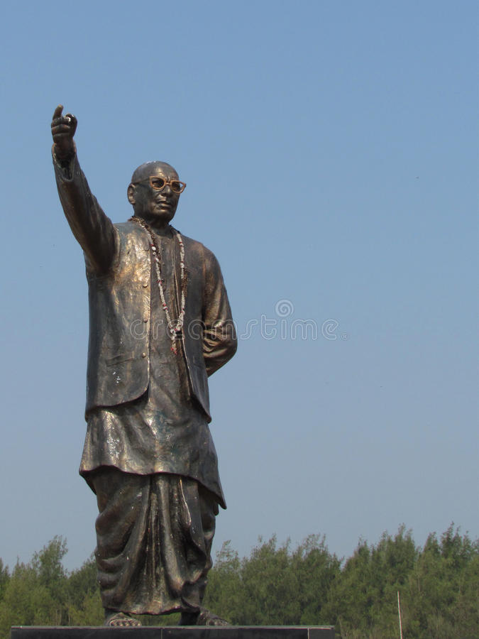 Granite statue of a polician and leader royalty free stock photo
