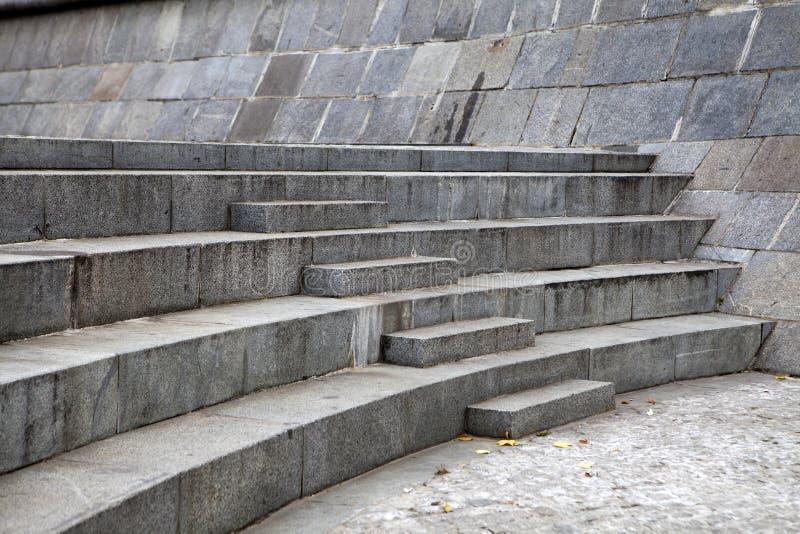 Granite steps geometry. Urban city stock photography