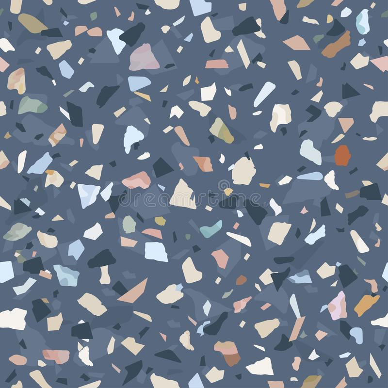 Granite stone terrazzo floor texture. Abstract background, seamless pattern. royalty free illustration
