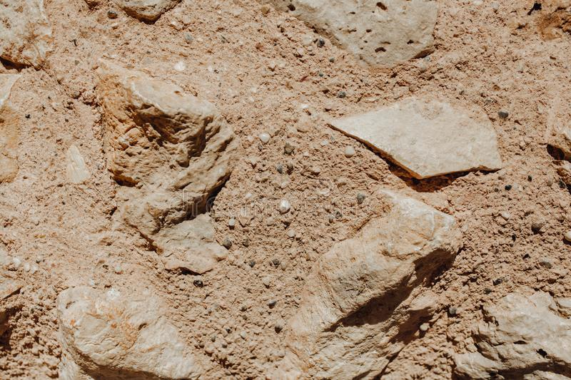 Granite Stones, Sand and Earth Outdoor Background royalty free stock image