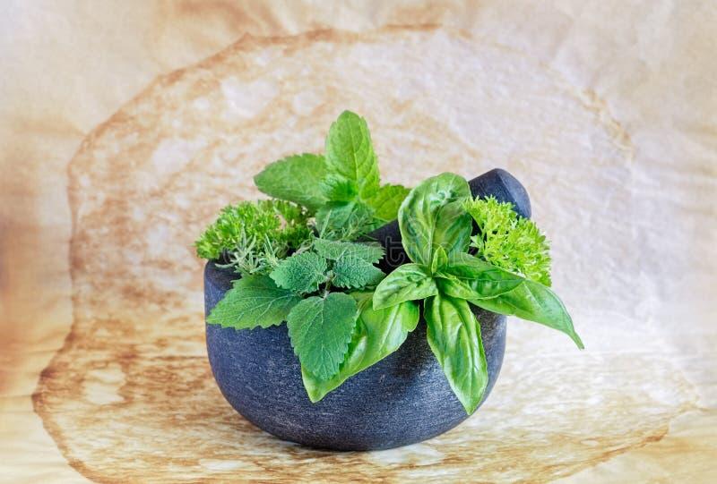Granitmortel och pestle royaltyfri foto