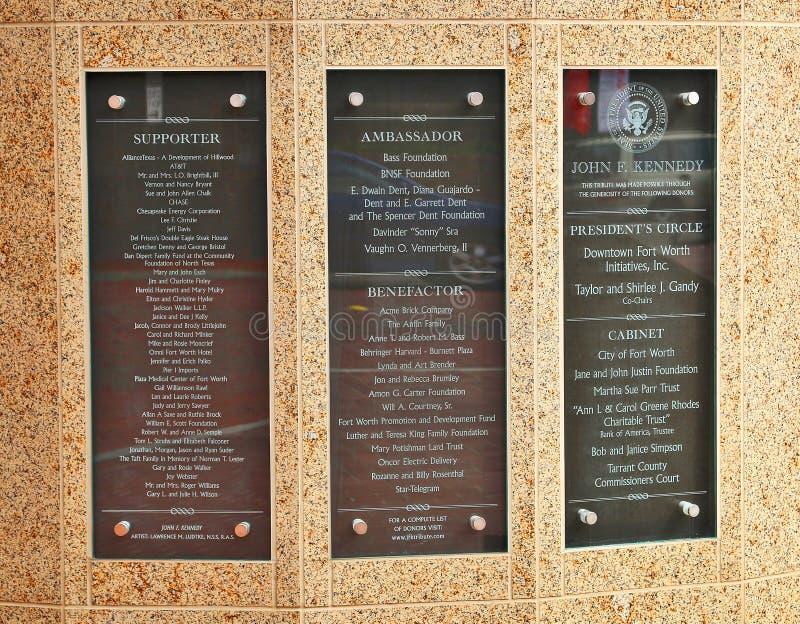 Granito e bronze John Fitzgerald Kennedy Memorial fotos de stock