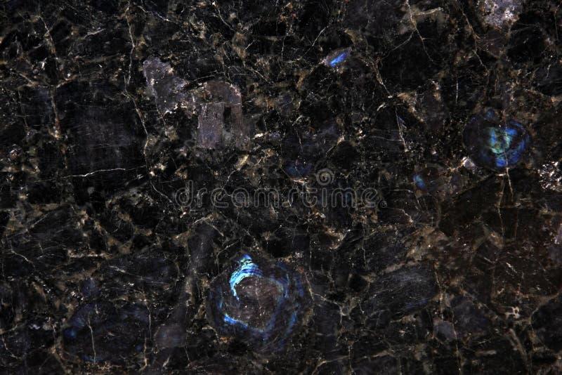 Granito preto com destaques da vida noturna foto de stock