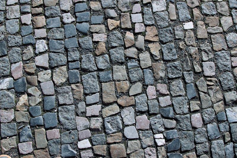 Granito que pavimenta em Praga foto de stock royalty free