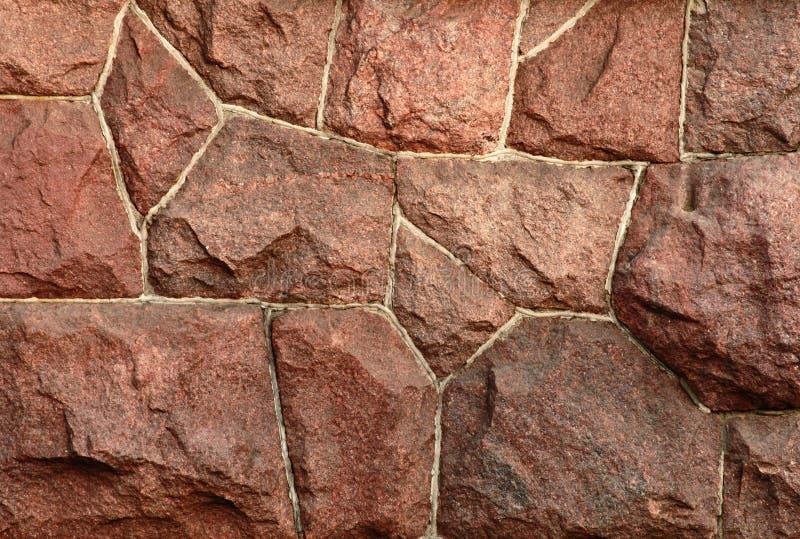 Granito rojo wall-2 fotografía de archivo libre de regalías