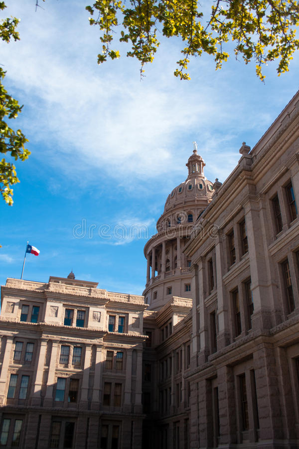 Granito rosa Texas State Capitol Building in Austin immagine stock libera da diritti