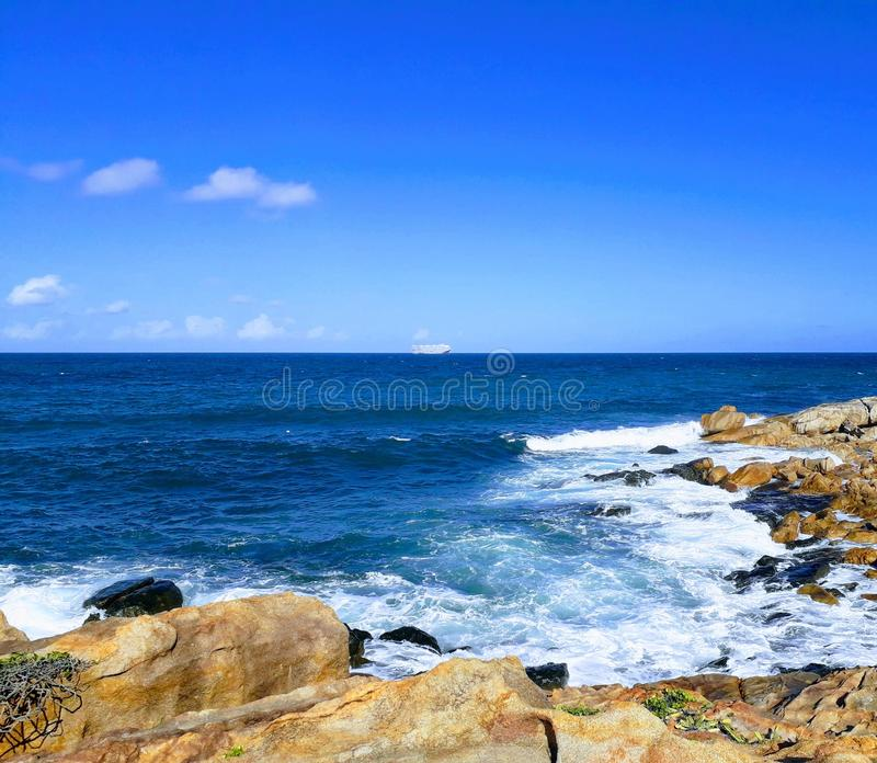 Granitowe skaliste plaże na Recife wyspach - Pernambuco, Brazylia obraz stock
