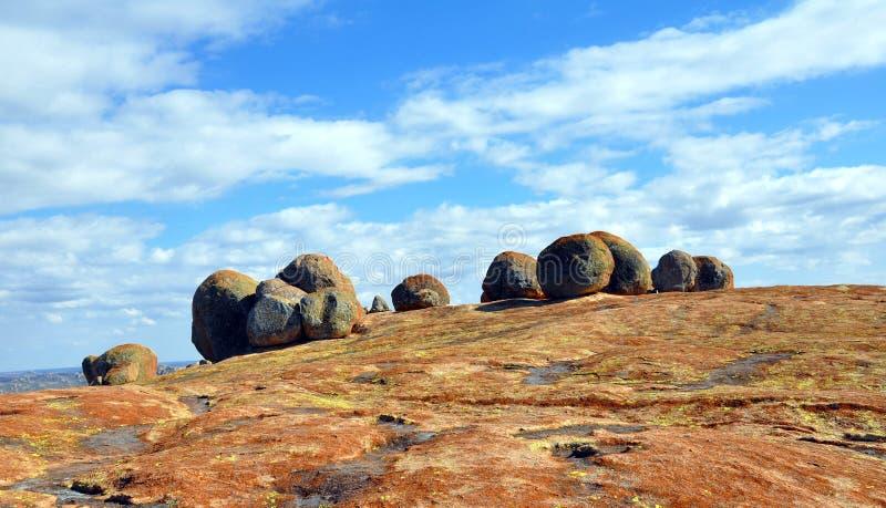 Granitowi głazy, Matobos park narodowy, Zimbabwe fotografia stock