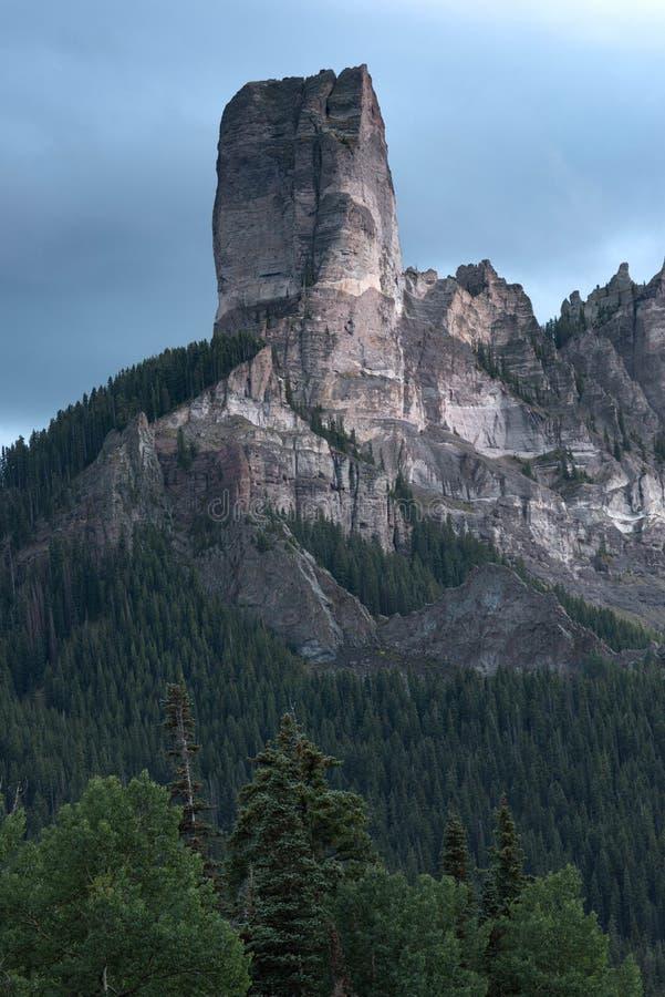 Granitowy forteca w niebie zdjęcie royalty free