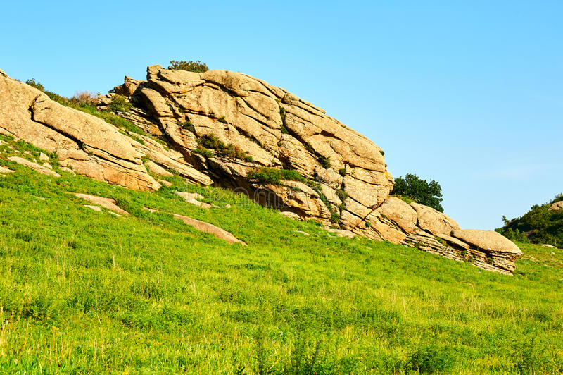 Granitowy megalit obrazy royalty free