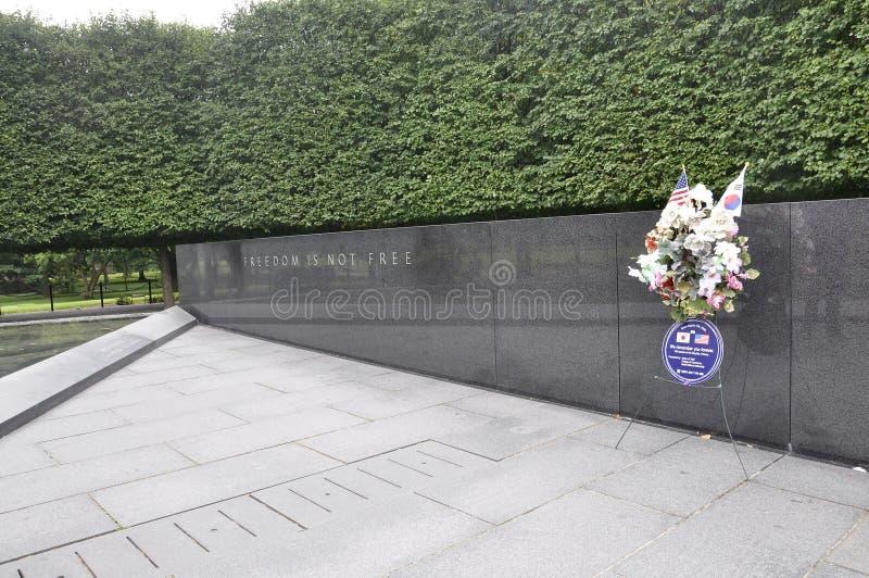 Granitowy zabytek przy wojna koreańska pomnikiem od Waszyngtońskiego dystryktu kolumbii obrazy stock