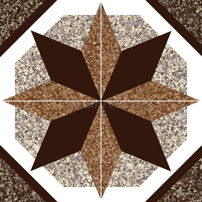 Granitte Dekor lizenzfreie abbildung