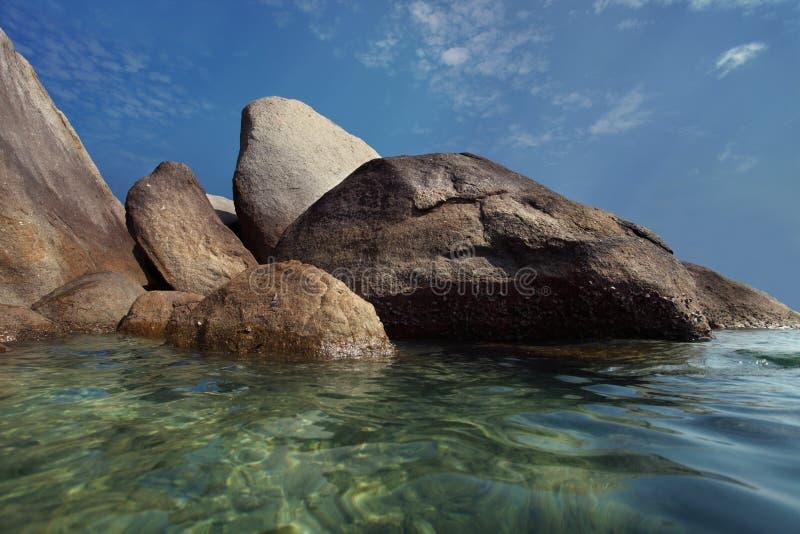 granitu plażowy kamień fotografia stock