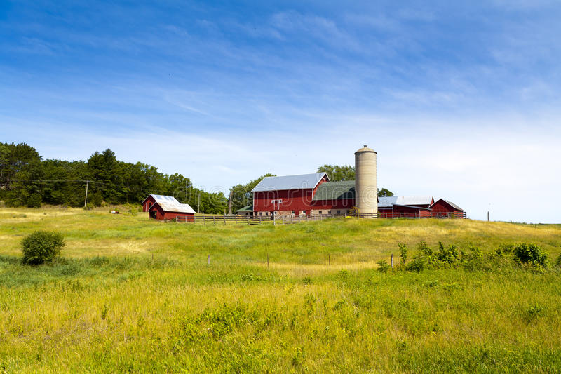 Granja americana del país foto de archivo libre de regalías